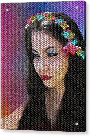 Mosaic Fairy Acrylic Print by Lee Farley