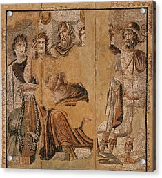 Mosaic Floor With Achilles And Briseis Unknown Turkey Acrylic Print