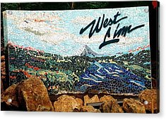 Mosaic For The City Of West Linn Oregon Acrylic Print by Charles Lucas