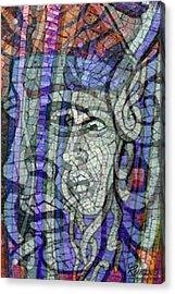 Mosaic Medusa Acrylic Print by Tony Rubino