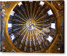 Mosaic Of Christ Pantocrator Acrylic Print by Stephen Stookey