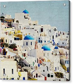 Mosaic - Santorini Acrylic Print