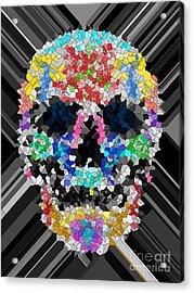Mosaic Skull Acrylic Print