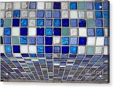 Mosaic Tile Acrylic Print by Tony Cordoza