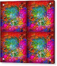 Mosaic Times Four Acrylic Print by Carolyn Repka