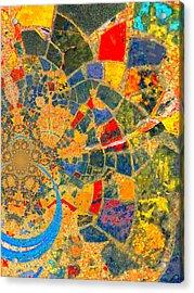 Mosaik Acrylic Print by Nico Bielow