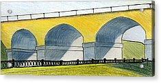 Moscow. Andronikov Viaduct Acrylic Print by Lelia Sorokina