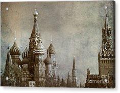 Moscow Acrylic Print by Bernard Jaubert