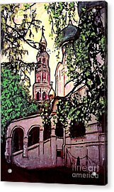 Moscow Church Acrylic Print by Sarah Loft