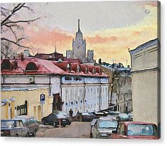 Moscow Old Streets 1 Acrylic Print by Yury Malkov