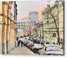 Moscow Old Streets 3 Acrylic Print by Yury Malkov