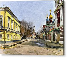 Moscow Old Streets 8 Acrylic Print