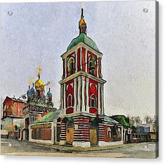 Moscow Old Streets 9 Acrylic Print