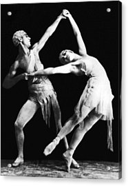 Moscow Opera Ballet Dancers Acrylic Print by Underwood Archives