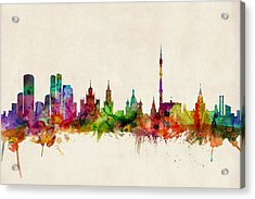 Moscow Skyline Acrylic Print by Michael Tompsett