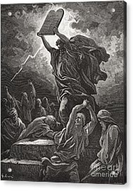 Moses Breaking The Tablets Of The Law Acrylic Print