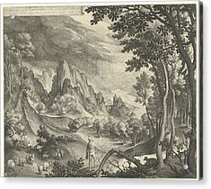 Moses Is Addressed By God On Mount Horeb Acrylic Print by Nicolaes De Bruyn