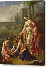 Moses Saved From The Water Acrylic Print by Adriaan van der Werff