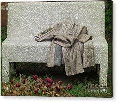 Mosiac Bench Acrylic Print by Deborah Smolinske