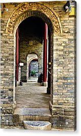 Moslem Door Xi'an China Acrylic Print by Sally Ross