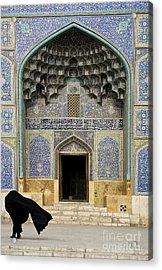 Mosque Door In Isfahan Esfahan Iran Acrylic Print