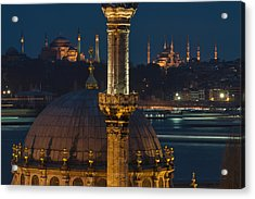 Mosques In Istanbul Acrylic Print by Ayhan Altun