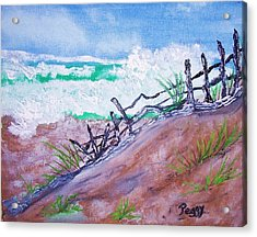 Moss Landing Beach Acrylic Print by Peggy Leyva Conley
