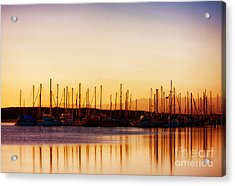 Moss Landing Sunset Acrylic Print by Polly Peacock