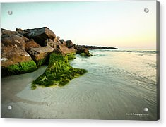 Mossy Lagoon Acrylic Print by Volker blu Firnkes