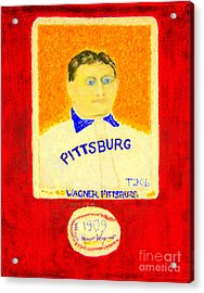 Most Expensive Baseball Card Honus Wagner T206 2 Acrylic Print by Richard W Linford