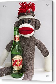 Most Interesting Sock Monkey In The World Acrylic Print by William Patrick
