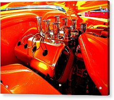 Most Powerful Orange In The World With Tiny Hand Acrylic Print by Don Struke