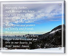 Most Powerful Prayer With Winter Scene Acrylic Print by Barbara Griffin