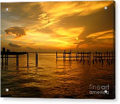 Most Venerable Sunset Acrylic Print by Kathy Bassett