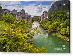 Mostar  Bosna Acrylic Print by Todor Bozhkov