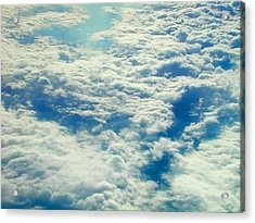 Acrylic Print featuring the photograph Mostly Cloudy by Mark Greenberg