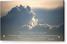 Mostly You Acrylic Print