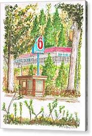 Motel 6 In Mammoth Lakes - California Acrylic Print by Carlos G Groppa