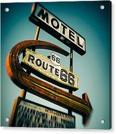 Motel Acrylic Print by Dave Bowman