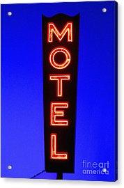 Motel Acrylic Print by Diane Diederich