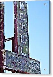 Motel Sierra Vista Vintage Neon Sign Acrylic Print