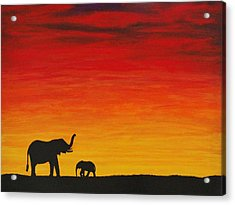 Acrylic Print featuring the painting Mother Africa 1 by Michael Cross