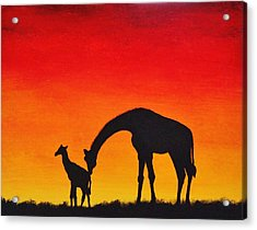 Acrylic Print featuring the painting Mother Africa 2 by Michael Cross