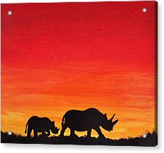 Acrylic Print featuring the painting Mother Africa 5 by Michael Cross