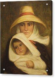 Mother And Child Acrylic Print by    Michaelalonzo   Kominsky