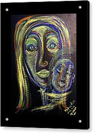 Mother And Child Acrylic Print by Mimulux patricia no No
