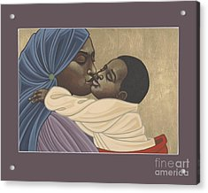 Acrylic Print featuring the painting Mother And Child Of Kibeho 131 by William Hart McNichols