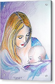 Mother And Child Acrylic Print by Roberto Gagliardi