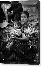 Mother And Child Acrylic Print by Tom Bell