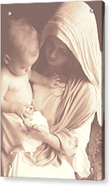 Madonna And Child Acrylic Print by Vienne Rea